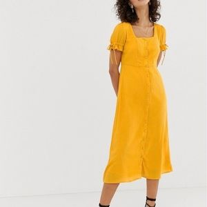 Vera Moda Square Neck Maxi Tea Dress